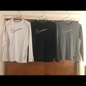Nike dri-fit long sleeve workout bundle